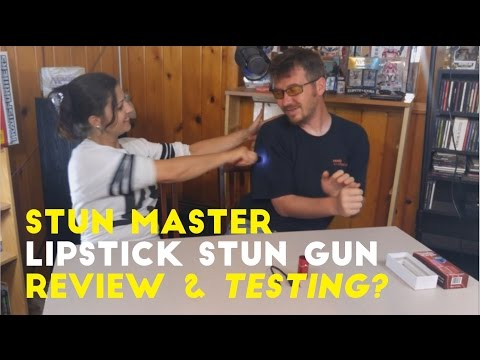 Stun Master Lipstick Stun Gun - Unboxing, Review, and Testing?