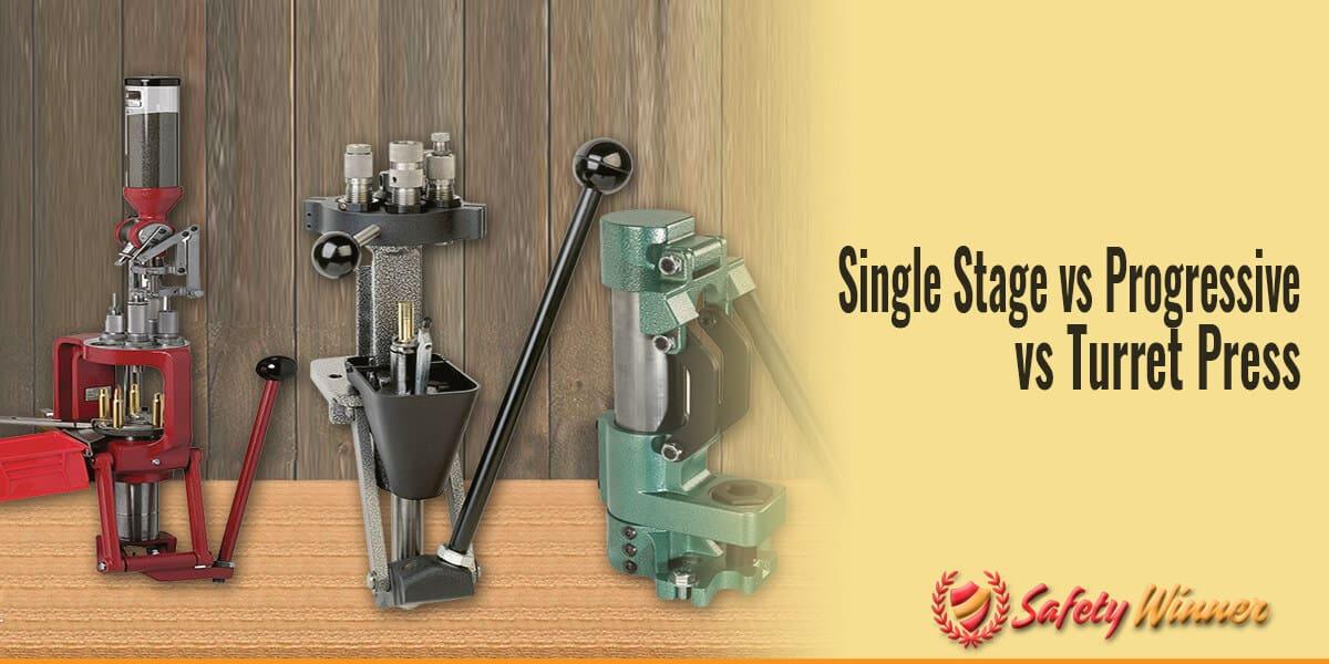 Single-Stage vs. Progressive vs. Turret Reloading Press